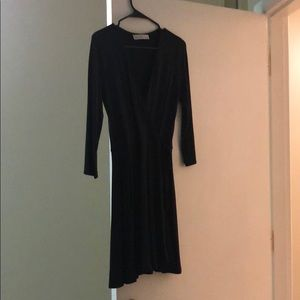A&f black wrap dress